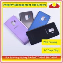 מקורי עבור Samsung Galaxy S9 G960 G960F SM G960F שיכון סוללה דלת אחורי חזרה זכוכית כיסוי מקרה פגז מארז
