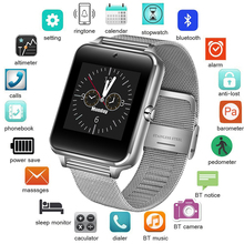 цена на Smart Watch Clock With Sim TF Card Slot Push Message Bluetooth Connectivity Android Phone Smartwatch Men Watches Digital Watch