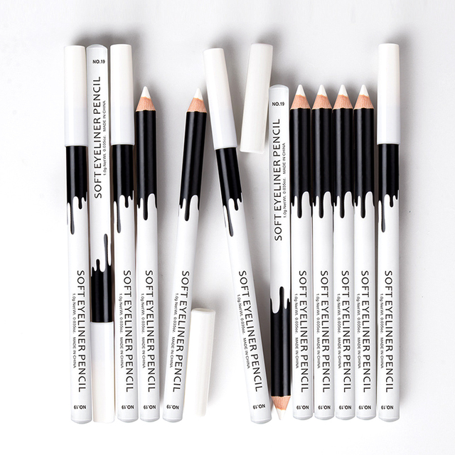 MENOW Brand White Eyeliner Makeup Smooth Easy to Wear Eyes Brightener Eye Liner Pen Waterproof Make Up White Eyes Liner Pencils 4