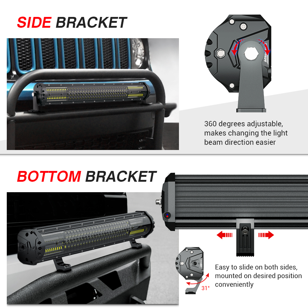 Image 2 - Latest 21 Inch 4 Row LED Light Bar Magical M2 Aerodynamic Off Road Driving Work Light for Jeep ATV Truck Boat-in Light Bar/Work Light from Automobiles & Motorcycles