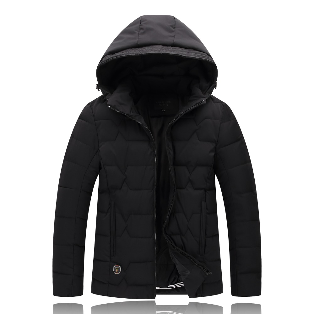 Plus Size 4XL-9XL Winter Jacket Men 2017 Black Male Coat Cheap Down Jacket Parkas Trench Hooded Camperas Snow Cold Jacket 1626