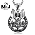 WITH RANDOM Gift Chain New SAS special air service Who dears wins stainless steel pendant fine jewelry vintage Punk STP-Y511-45