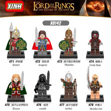Single Sale Diy Legoings Building Blocks Uruk Hais Mordor Orc The Lord of the Rings Hobbit Aragorn Diy Action figure weapon Toys(China)