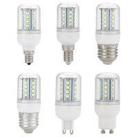 E12 E14 E26 E27 G9 GU10 220V 5W Corn SMD LED Bulb Replace Light Pure White
