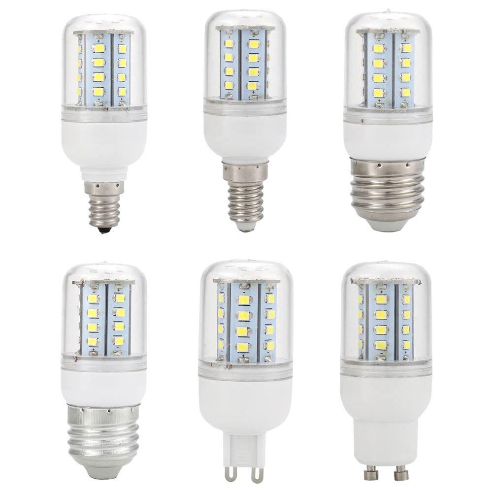E12 E14 E26 E27 G9 GU10 220V 5W Maïs smd LED ampoule Remplacer Lumière Blanc Pur
