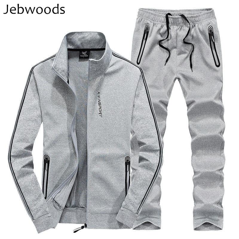 Men's Sportswear Spring Casual Cotton Tracksuit Men Jacket+Pants 2 Pieces Set Track Suit Sweatshirt Male Sweatsuits 6XL 7XL 8XL