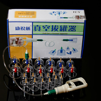 Chinese Traditional Medical 12 Cups Vacuum Body Cupping Set Portable Massage Therapy Kit Body Suction For