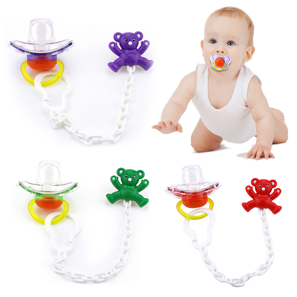 Dummy Clips Newborn Baby Shower Gifts Bpa Free Infant Pacifier Holder Chain For Baby Cute Silicone Baby Pacifier Clips
