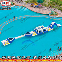 Swimming Pool Floating Water Obstacle Games Giant Inflatable Water Park