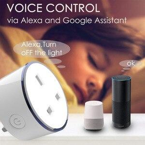 Image 4 - 2 szt opakowanie inteligentna ładowarka z LED RGB światła gniazdo brytyjskie pilot bezprzewodowy WIFI Home Voice Control współpracuje z Google domu mini