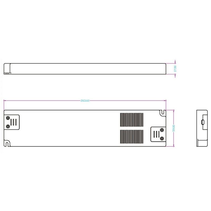 HoneyFly Super Slim LED драйвері 60W 12V AC220V - Жарықтандыру керек-жарақтары - фото 3