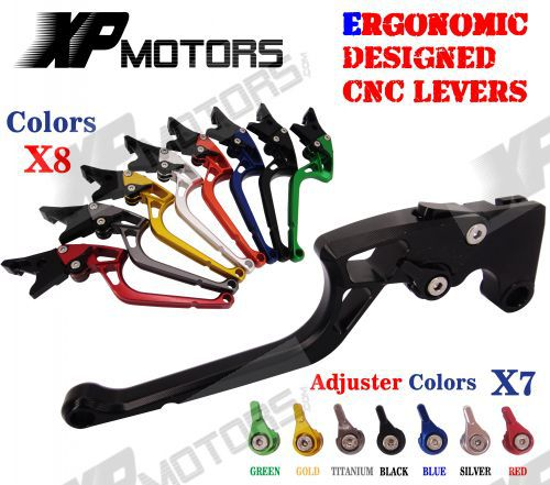 ФОТО Ergonomic Designed New CNC Adjustable Right-angled 170mm Brake Clutch Levers For Buell 1125R 2008 2009