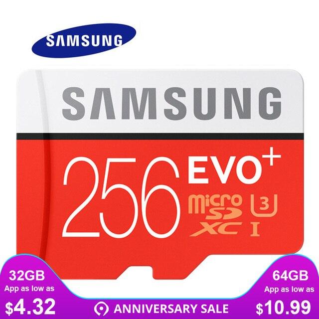 סמסונג זיכרון כרטיס מיקרו SD 256 GB 32 GB 64 GB 128 GB 512G SDHC SDXC כיתה EVO + כיתת 10 C10 UHS TF כרטיסי Trans פלאש Microsd