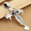 Handmade 925 silver cross pendant vintage thai silver sword pendant punk jewelry man pendant male jewelry gift