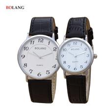 BOLANG Marca Hombre Relojes de Moda de Lujo Casual Estilo Simple Pareja Amante reloj Análogo de Cuarzo de Los Hombres de Cuero del Reloj Barato relojes