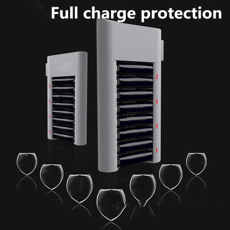 ร้อน!! 8 ช่องสมาร์ท Fast Charger สำหรับ Aa Aaa Ni-Mh/Ni-Cd แบตเตอรี่และปลั๊ก (Us Plug)