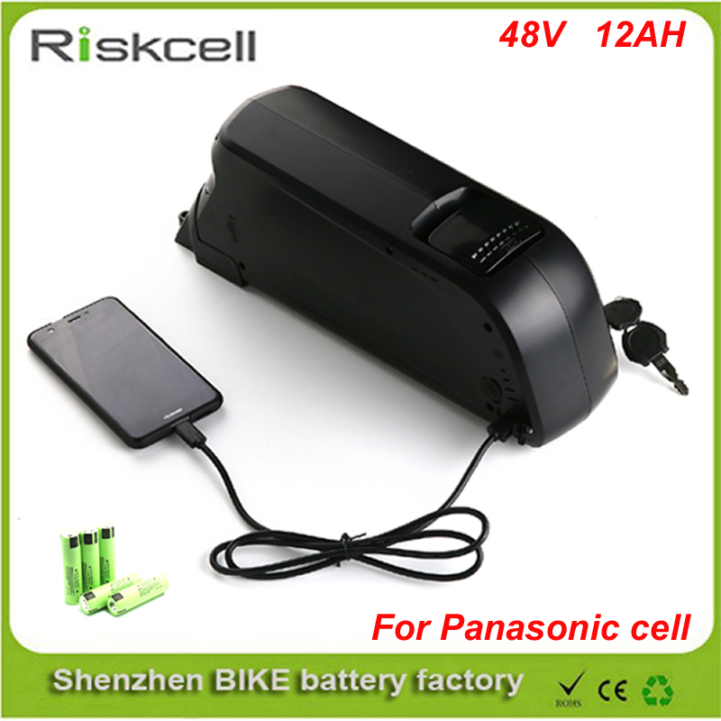 Super Power  Electric Bike Battery 48v 12ah li ion battery with  Panasonic 18650 cells for Bafang 8fun 48v 750w  ebike moto powerful 48v electric bike battery pack li ion 48v 50ah 1000w batteries for electric scooter with use panasonic 18650 cell