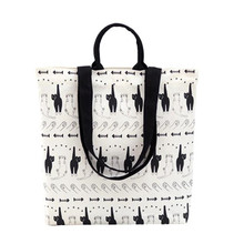New 2016 Winter Cute Cat Printing School Bags Ladies Canvas Handbags For Girls Casual Women Laptop Mochila Feminina