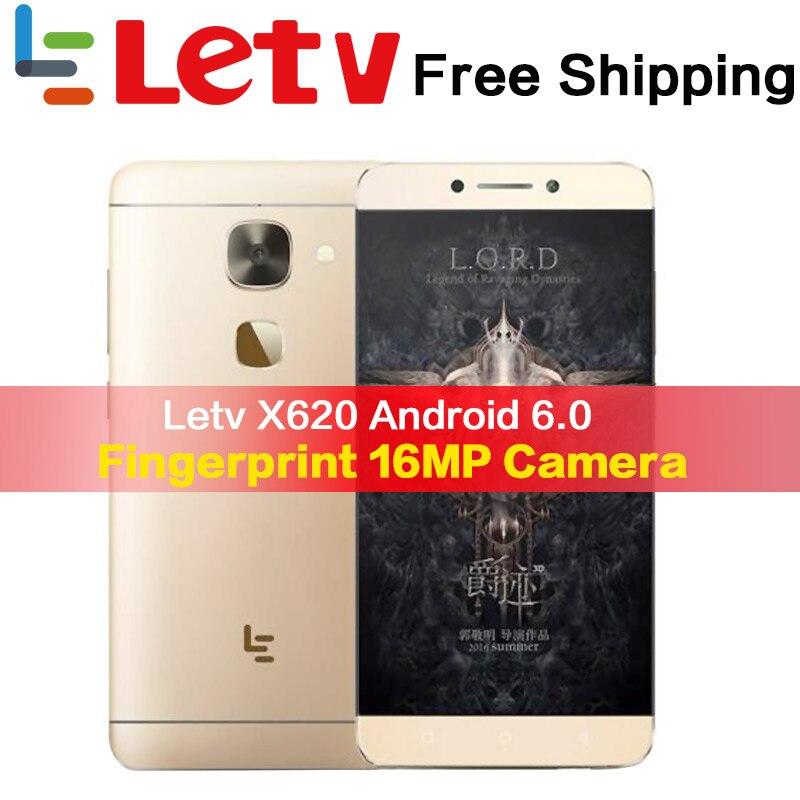 Оригинальный Letv Le2 X620 32G Встроенная память Android6.0 телефон Helio X20 Дека Core 2,3 GHz 5,5 ''16MP Камера отпечатков пальцев Смартфон мобильного телефона
