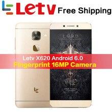 Оригинальный Letv Le2 X620 32G Встроенная память Android6.0 телефон Helio X20 Дека Core 2,3 GHz 5,5 »16MP Камера отпечатков пальцев Смартфон мобильного телефона