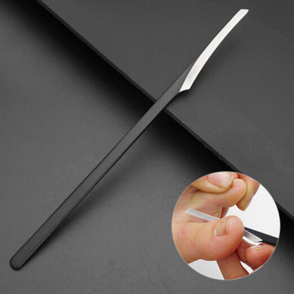 1 sztuk 18CM stal wolframowa skrobak profesjonalne narzędzie do pedicure skrobak modzele strugania Toe szew pięty pielęgnacja skóry plik