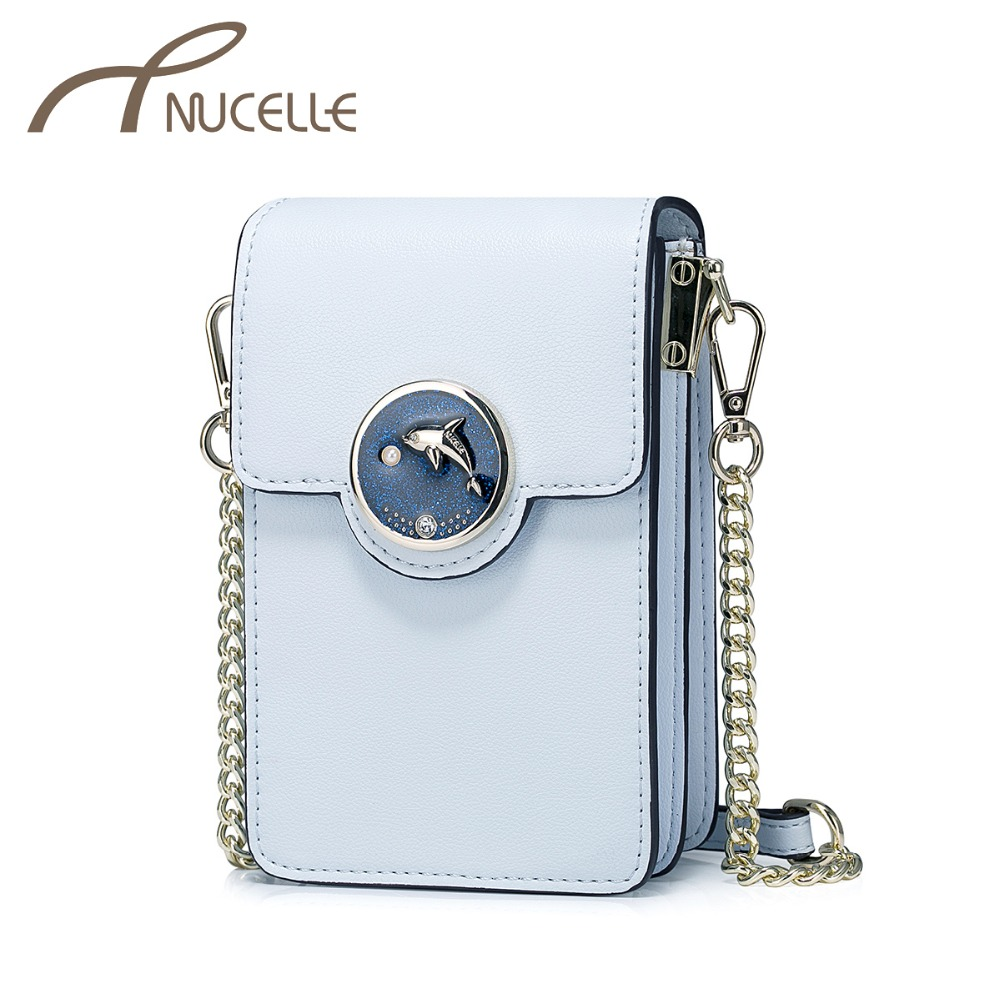 NUCELLE Women PU Leather Messenger Bags Ladies Fresh Style Phone Purse Female Leisure Mini Leather Chain Crossbody Bag NZ41027 just star women s pu leather messenger bags ladies embroidery shoulder purse female chain leisure whale crossbody bags jz4468