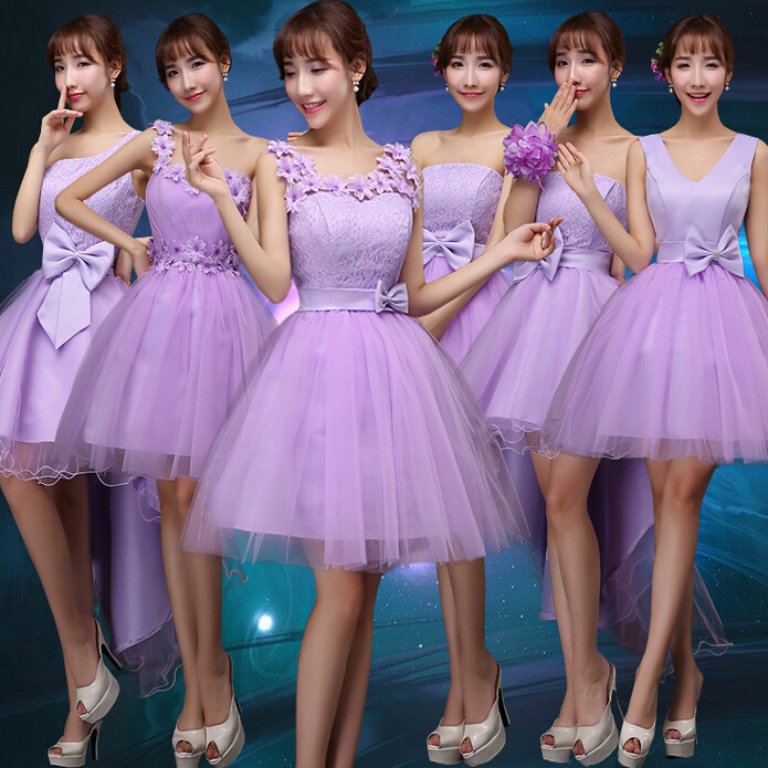 lavender short cute junior teen tulle party dresses sweetheart ...