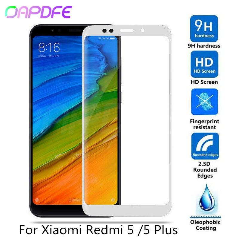 9H Tempered Glass For Xiaomi Redmi 5 Redmi 5 Plus Full Cover Screen Protector For Redmi5 Redmi5plus Phone Glass Protective Film