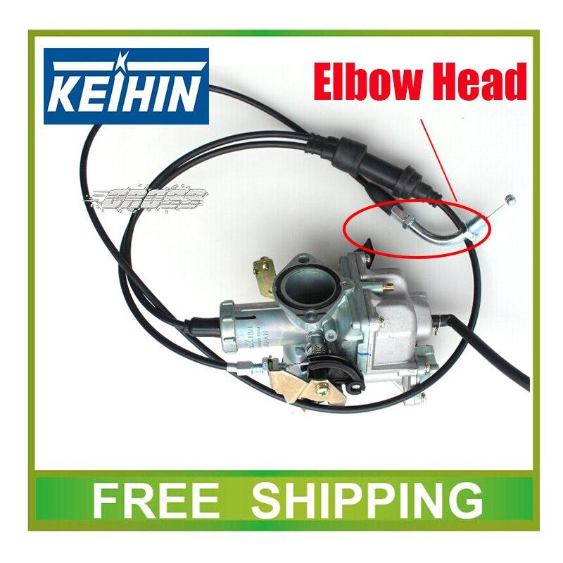 Carburateur KEIHIN 30mm avec accélérateur de pompe d'accélération course zongshen ttr 150cc 200cc 250cc carburateur double câble d'accélérateur