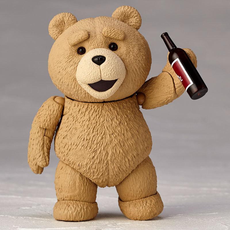 Movie TED 2 10cm Boxed Ted Teddy Bear BJD Figure Model Toys 40cm plush teddy bear ted movie action figure teddy doll toys talking dirty words ted recording teddy bear repeater toys