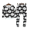 2016 New Autumn children girls clothing sets fashion big flower sleeved Tee shirts +harem pants clothes sets for boys