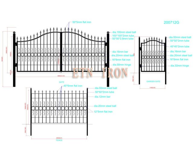 house iron swing gate designs ETN 200712G_640x640 house iron swing gate designs etn 200712g in doors from home