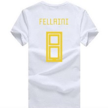 24677e455 2018 Wor1d Cup fashion FELLAINI 8 t shirt Footballer top tee men 100%  cotton o