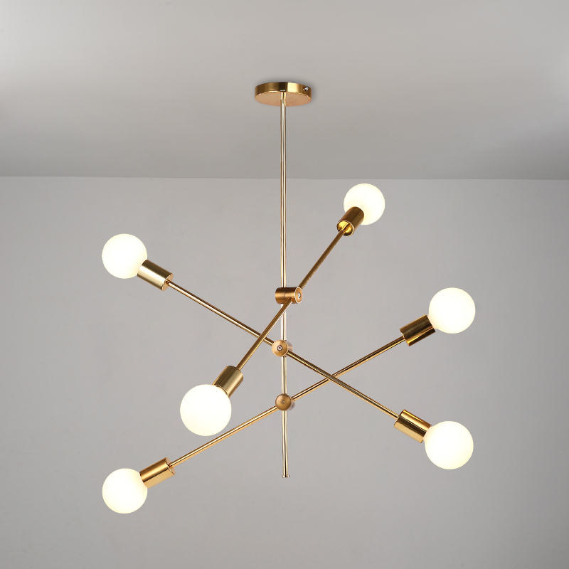 Modern creative gold pendant lights art deco E27 lighting fixtures pendant lamp for living room bedroom dining room kitchen diamond himmeli pendant lights black iron art birdcage pendant lamp suspension for living room bedroom lighting fixtures pl321 page 5