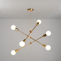 Modern creative gold pendant lights art deco E27 lighting fixtures pendant lamp for living room bedroom dining room kitchen