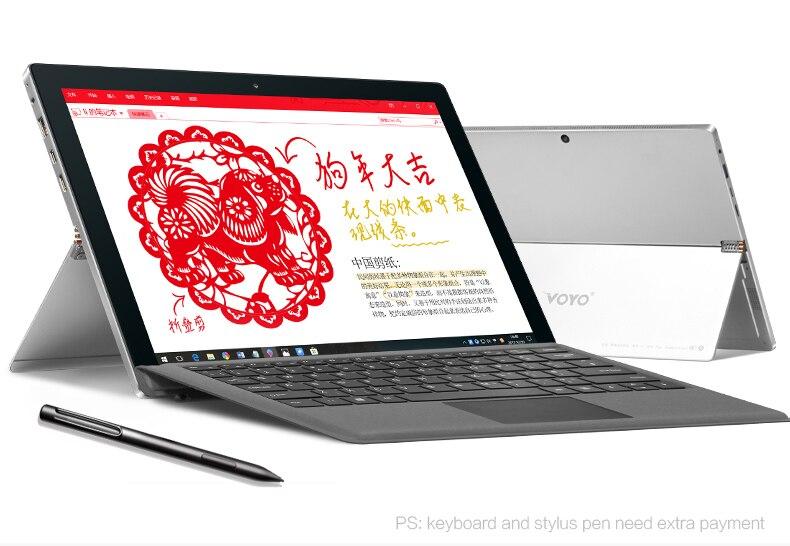 VOYO i7plus intel i7 7500U Grand Écran HD 2880*1920 8G RAM 256 GO SSD Support de windows tablet stylet 12.6 comprimés PC