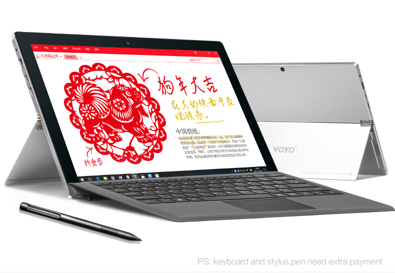 VOYO i7plus intel i7 7500U grand écran HD 2880*1920 8G RAM 256 GB SSD Support windows tablette stylet 12.6