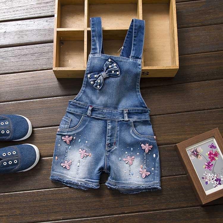 2016 Anno Di Primavera Autu Bambini Complessivo Jeans Vestiti Neonato Salopette Di Jeans Tute Per Bambino/infante Ragazze Bavaglino Pantaloni Buon Sapore