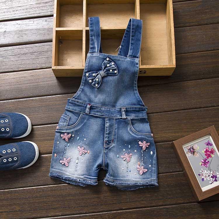 2016 leto pomlad Autu otroška splošna jeans oblačila novorojenček denim kombinezoni kombinezoni za malčke / dojenčke dekliške hlače