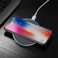 D6 Plus Ultra Thin Fast Wireless Charging Charger Pad For IPhone 8 Samsung Galaxy S8 Etc