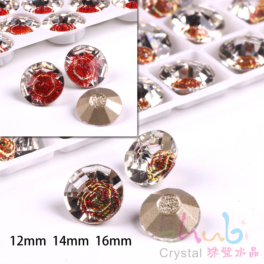 Glass Round Rhinestones With Hole 12 14 16mm Sewing Clear Loose Crystals  Faceted Flatback Stone For Diy Making Costume jewelery-in Beads from  Jewelry ... 461827d25b3c
