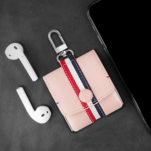 Cute Case For Airpods Women Mini Earphone Cover For Airpods Earpods Pink Color Leather Cases For Apple Wireless Headphone Coque