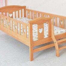 Детская кровать, детская мебель из цельного дерева, детская кровать с лестницей, горит, enfant kinderbett moveis, минималистичный современный muebles 180*110*71 см