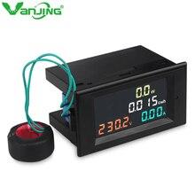 AC 80-300V 100A Multi- Functional Volt Amp Meter Digital Voltmeter Ammeter Watt Active Power Energy Battery Monitor Multimeter
