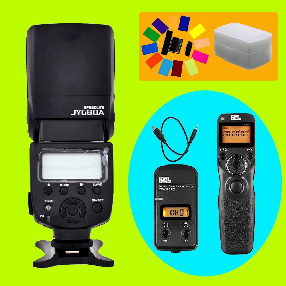 Viltrox JY-680A Flash Speedlite & Pixel TW-283 DC2 Timer Remote Control For Nikon D7100 D3300 D5100 D7000 D3200 D90 D7200 D5000 pixel tc 252 dc0 wired lcd timer remote control shutter for nikon d700 d200 d810