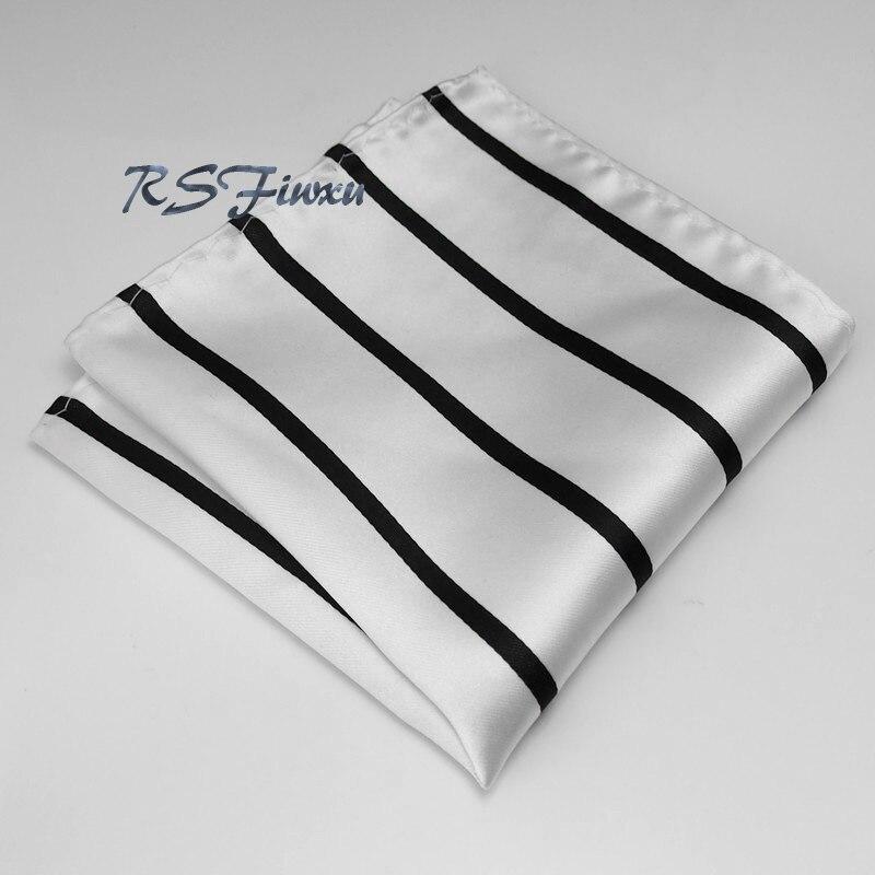 웃 유Envío Gratis rayas negro blanco pañuelo de seda 100% mens ...
