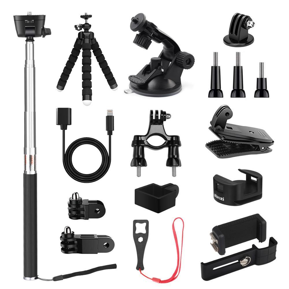 KIWI DessigAccessories For DJI Osmo Pocket, Expansion Kit | Mounts | Backpack Clip | Tripod | Phone Holder | WiFi Tripod Adapter