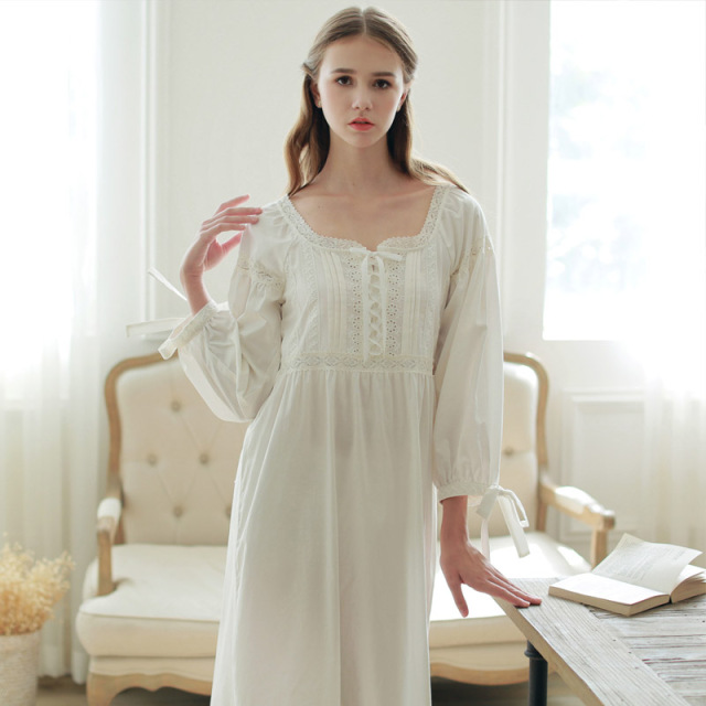 Women Elegant Vintage Long Nightgowns For Womens Home