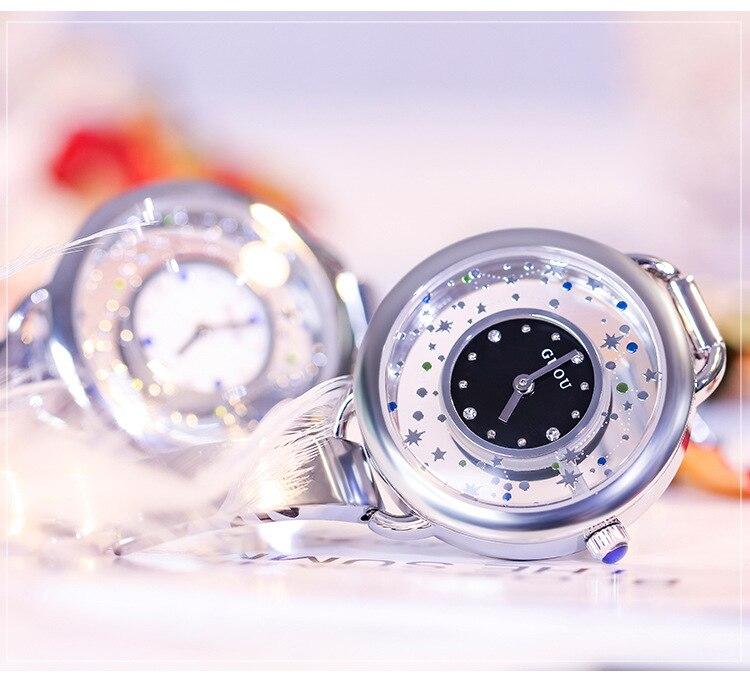 Céu estrelado Dial Senhoras Relógio Bracelete de