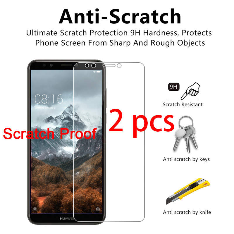 2pcs! Protective Glass For Huawei P20 Pro P10 Plus P9 Lite Toughed Tempered Glass Screen Protector On Huawei P8 Lite